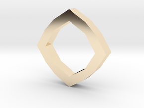 f110 grid octagon ring 1 gmtrx in 14K Yellow Gold