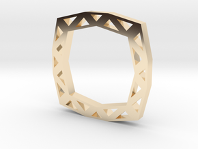 f110 grid ring gmtrx in 14k Gold Plated Brass