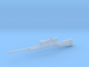 1:12 Carbine M24 in Smooth Fine Detail Plastic: 1:12