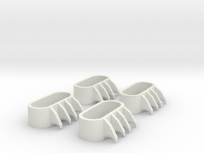 1:6 scale Claws in White Natural Versatile Plastic