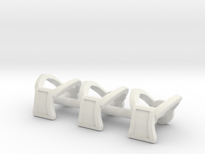 Galaxy Warriors Square Harnesses - Mega Construx in White Natural Versatile Plastic