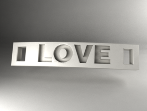 Love Bracelet in White Strong & Flexible