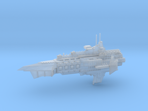 Capital Cruiser Ship - Concept A  in Smooth Fine Detail Plastic