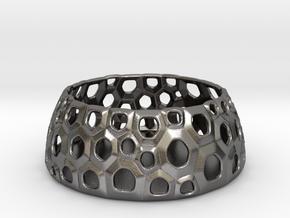 Organika Voronoi (m) in Polished Nickel Steel