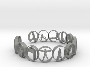yoga ring 18.11 mm 14 poses in Gray PA12