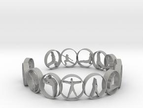 yoga ring 18.11 mm 14 poses in Aluminum