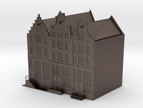 Canal houses Amsterdam Prinsengracht (small) in Polished Bronzed-Silver Steel