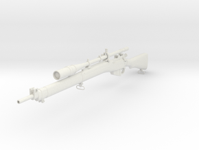1/3rd Scale Enfield Sniper Rifle in White Natural Versatile Plastic
