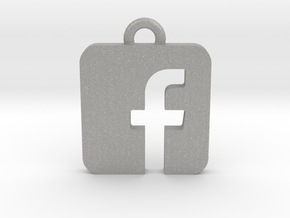 Facebook logo all materials necklace keychain gift in Aluminum