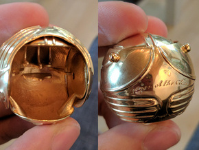 Golden Snitch Ring Box (Back) in 14k Gold Plated Brass