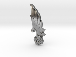 Winged D-pad in Natural Silver