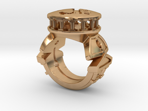 Anello Italia in Polished Bronze: 4 / 46.5