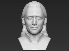 Loki bust in White Natural Versatile Plastic