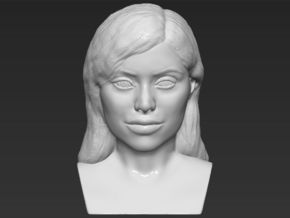 Kylie Jenner bust in White Natural Versatile Plastic