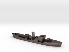 HMS Gloxinia corvette 1:2400 WW2 in Polished Bronzed-Silver Steel
