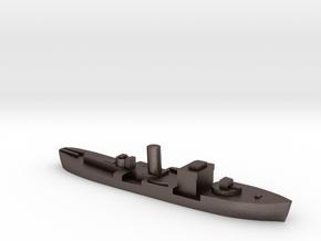 HMS Gloxinia corvette 1:1800 WW2 in Polished Bronzed-Silver Steel