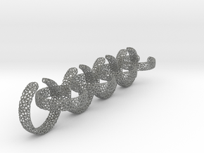 voronoi ring chain 18.11 mm in Gray Professional Plastic