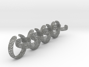 voronoi ring chain 17.6 mm in Gray Professional Plastic