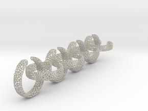 voronoi ring chain 23.6 mm in Natural Sandstone