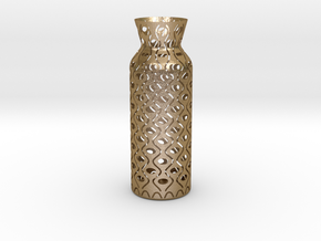 Vase_05 in Polished Gold Steel
