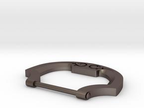 Belt Buckle in Polished Bronzed-Silver Steel