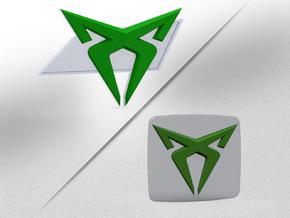 Cupra Logo Front FLAT in White Natural Versatile Plastic