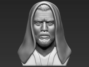 Obi Wan Kenobi bust from Star Wars in White Natural Versatile Plastic