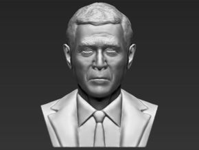 President George W. Bush bust in White Natural Versatile Plastic