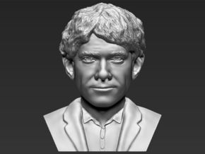 Bilbo Baggins from the Hobbit bust in White Natural Versatile Plastic