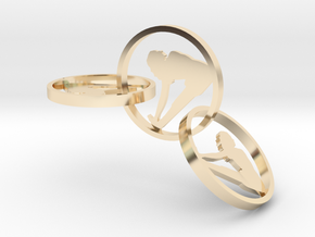 yoga jewelry - earring (1) in 14k Gold Plated Brass