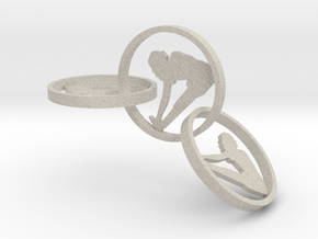 yoga jewelry - earring (1) in Natural Sandstone