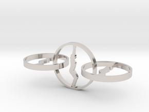 yoga jewelry - earring  in Platinum