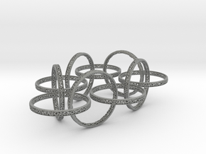 Ten hoop voronoi bracelet 7 inches approximately in Gray Professional Plastic