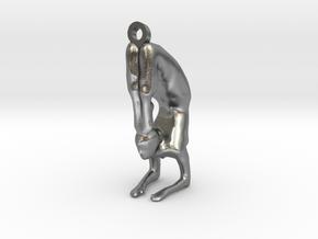 yoga jewelry pose - Vrischikasana in Natural Silver