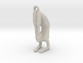 yoga jewelry pose - Vrischikasana in Natural Sandstone