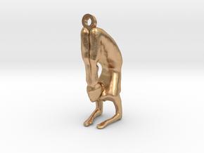 yoga jewelry - pendant earring . Vrischikasana in Natural Bronze