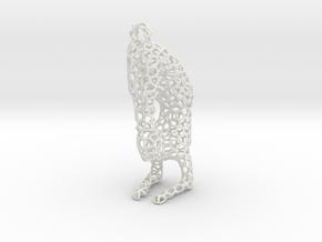 yoga jewelry - pendant earring - Vrischikasana in White Natural Versatile Plastic
