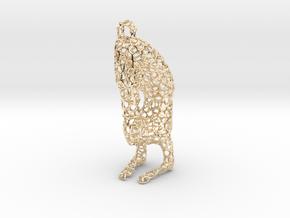 yoga jewelry - pendant earring - Vrischikasana in 14K Yellow Gold