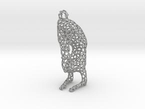 yoga jewelry - pendant earring - Vrischikasana in Aluminum
