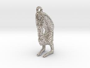 Voronoi yoga jewelry - earring pendant - Vrischika in Platinum