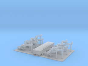 O Scale Casket and Pallbearers in Smooth Fine Detail Plastic