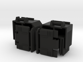 WIDE Leg Extenders for Transformmission Havoc in Black Natural Versatile Plastic
