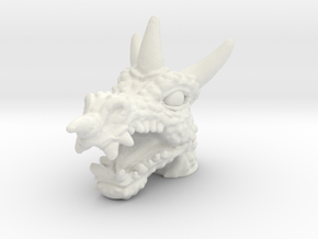Dragoon Head - Multisize in White Natural Versatile Plastic: Medium