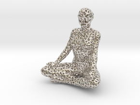 Voronoi meditation in Rhodium Plated Brass