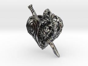 Iron Heart Perfume Locket V.2 in Antique Silver