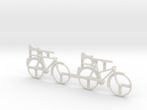 O Scale Bicycles in White Natural Versatile Plastic