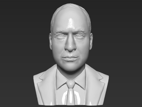 Prince William bust in White Natural Versatile Plastic
