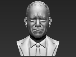 Tom Hanks bust in White Natural Versatile Plastic