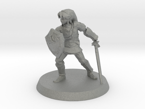 Link Zelda 1/60 miniature for fantasy rpg and game in Gray Professional Plastic