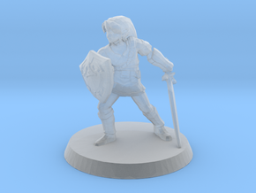 Link Zelda 1/60 miniature for fantasy rpg and game in Smooth Fine Detail Plastic